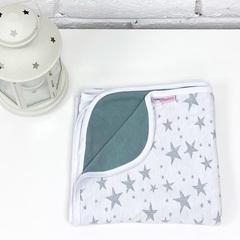 Плед трикотажный «Звёзды», цвет хаки