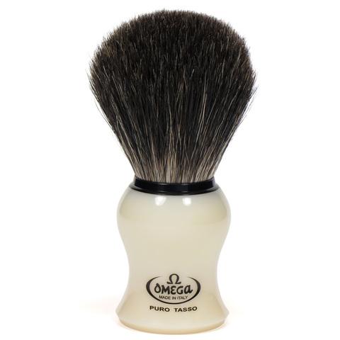 Помазок для бритья Omega натуральный черный барсук 13109