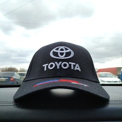 Кепка Тойота чёрная (Бейсболка Toyota)