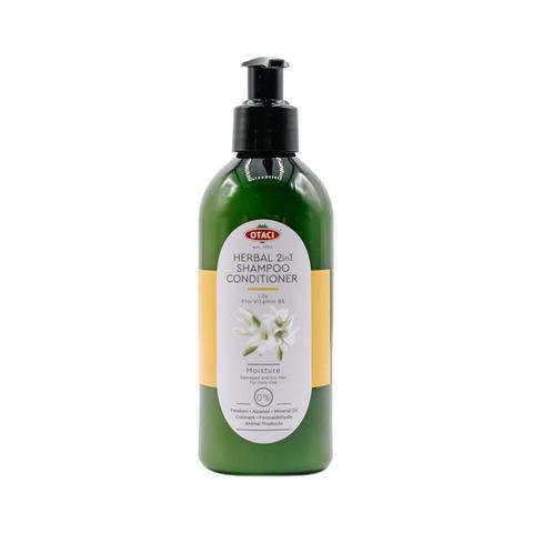 Увлажняющий травяной шампунь-кондиционер с белой лилией для поврежденных волос Otaci, 250 мл