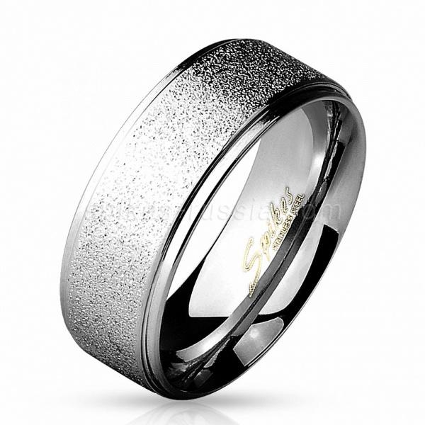 Кольцо мужское из стали с алмазным блеском SPIKES R-M4742
