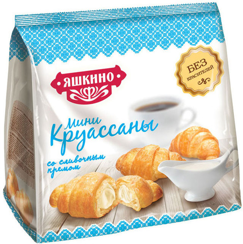 "Круассан мини ""Яшкино"" со сливочным кремом 180 г"