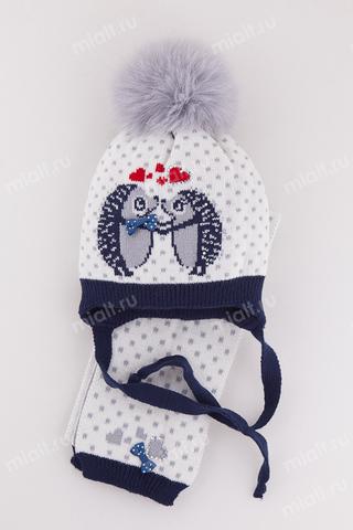 Зимняя шапка и шарф для девочки Mialt Шу Шу