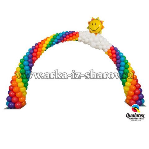 арка из шаров солнечный блеск
