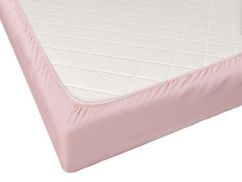 Простыня на резинке Промтекс-Ориент Розовая