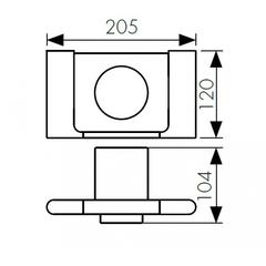 Стакан с настенным креплением KAISER Franco BL KH-2725 схема