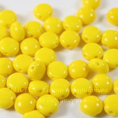 Бусина Candy Кабошон с 2 отверстиями, 8 мм, желтая