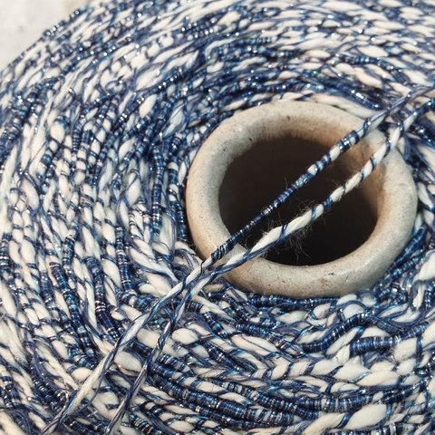 Хлопок с вискозой CASA DEL FILATO / CAPRI 150 бело-синий
