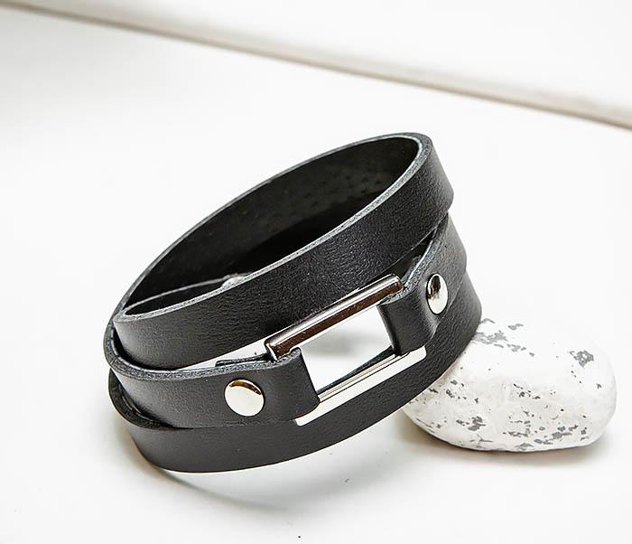 Boroda Design, Тройной браслет полоска из натуральной кожи