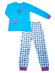 Пижама для девочки 434 синяя