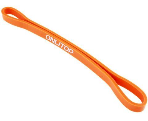 3551207 Фитнес-резинка 30х1,3х0,5 см, нагрузка 35 кг, цвет оранжевый