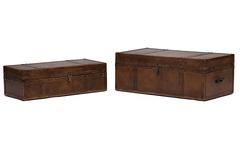 Набор из 2-х столиков - сундуков Secret De Maison Робинзон (ROBINZON) ( mod. M-2001 ) — Античный светлый