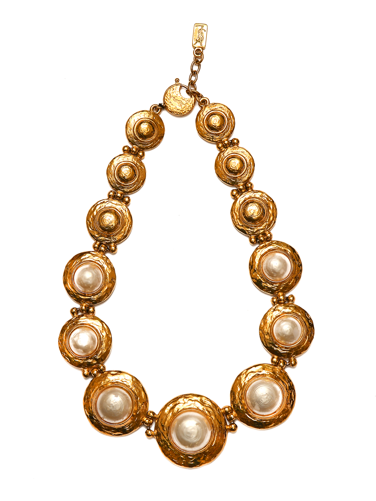 Striking necklace by Yves Saint Laurent