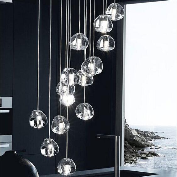 Подвесной светильник копия  Mizu by Terzani (15 подвесов)