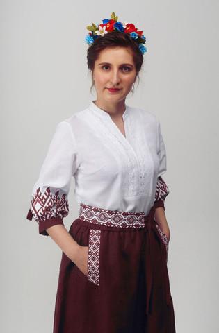 Блуза Родные узоры 02 приближенный фрагмент