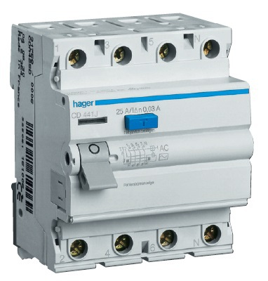 Устройство защитного отключения 4P 40A 300mA AC