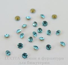 Стразы ювелирные (цвет - бирюзовый) 2,2 мм , 10 шт