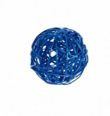 Плетеные шары из ротанга (набор:6 шт., d10см, цвет: синий)
