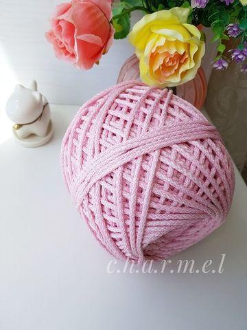 Розовый меланж Полиэфирный шнур 5 мм