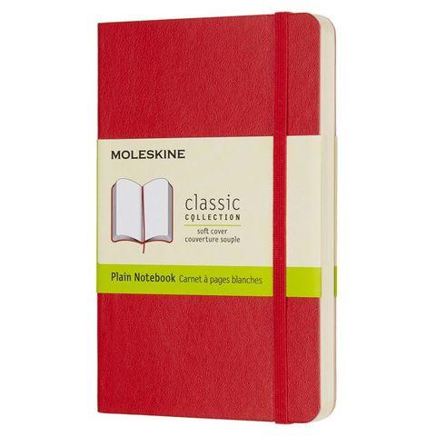 Блокнот Moleskine CLASSIC SOFT QP613F2 Pocket 90x140мм 192стр. нелинованный мягкая обложка красный