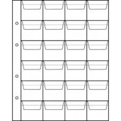 Лист для монет (24 ячейки)