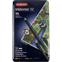 Набор из 12 акварельных карандашей Derwent Inktense