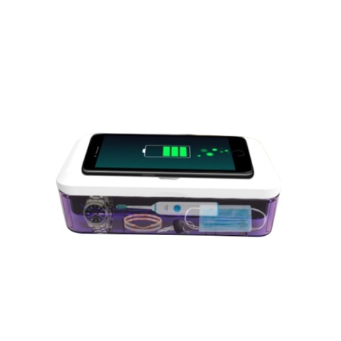 Дезинфектор для телефона и аксессуаров с функцией беспроводной зарядки / ANTIBAC MINIBOX