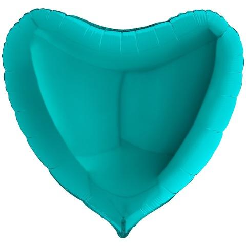 Воздушный шар сердце большое, Тиффани, 91 см