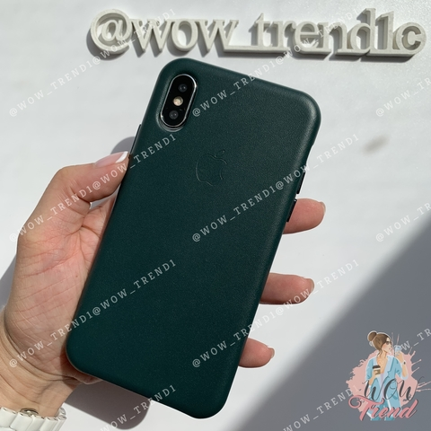 Чехол iPhone XR good Leather Case /forest green/