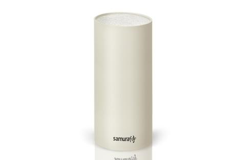 Универсальная пластиковая браш-подставка для ножей Samura, 22,5 см, (белая) KBF-101W/K