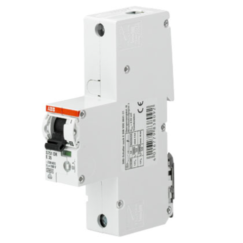 Автоматический выключатель 1-полюсный селективный 20 A, тип E, 25 кA S751DR-E20. ABB. 2CDH781010R0202