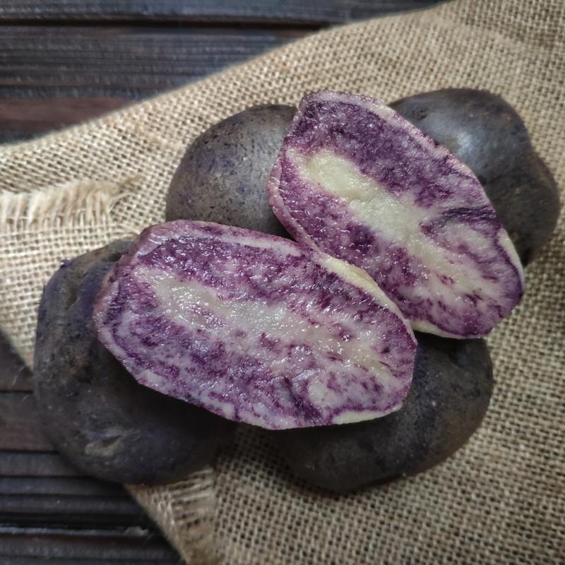 Фотография Картофель фиолетовый (1 кг) купить в магазине Афлора
