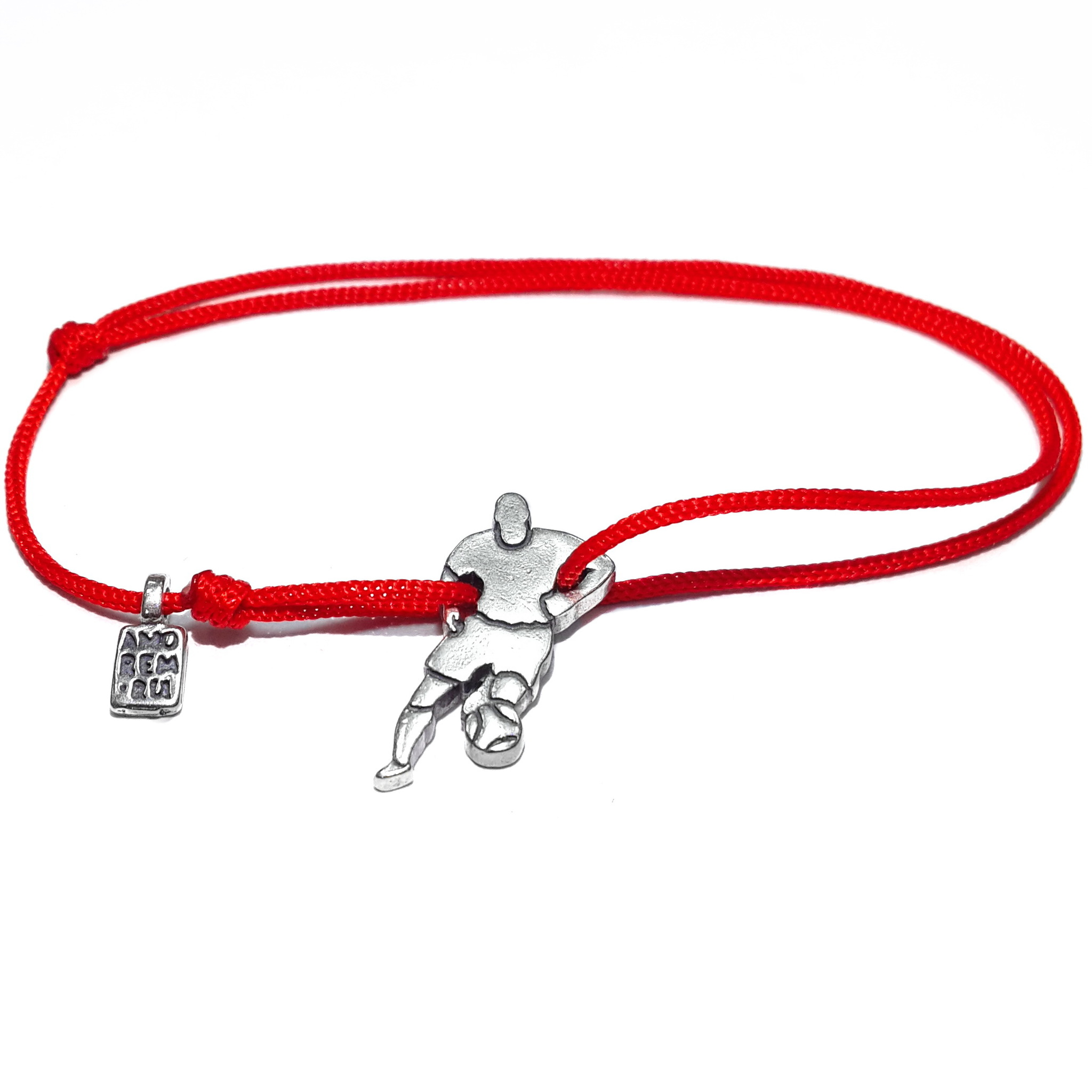 Soccer player Bracelet, sterling silver