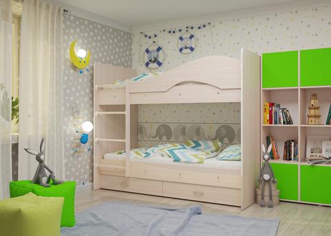 Двухъярусная кровать Майя млечный дуб
