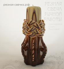 Резная свеча Шоколадная корзинка