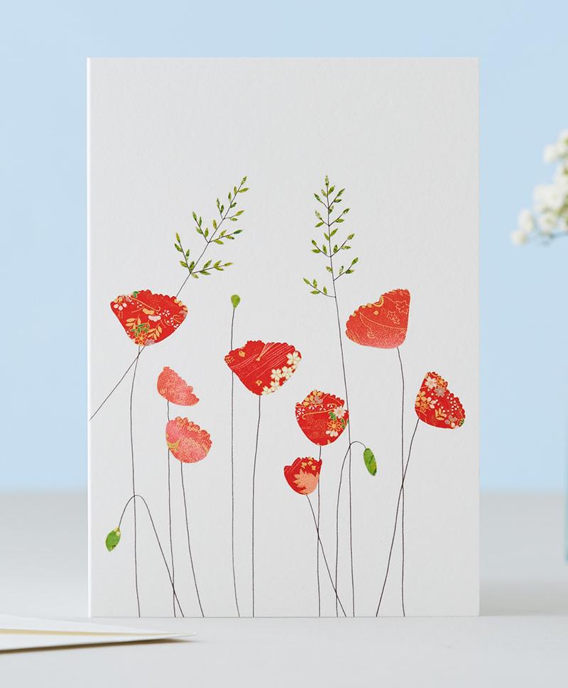 Открытка Poppies & Grass