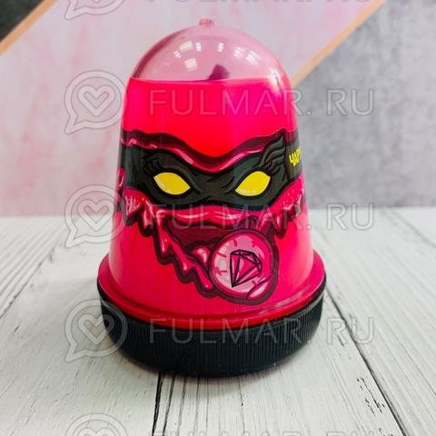 Слайм-лизун Slime Ninja надувающийся, с трубочкой, цвет: Фуксия
