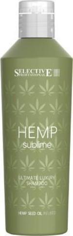 Шампунь увлажняющий для сухих и поврежденных волос ,Selective Hemp Sublime,250 мл.
