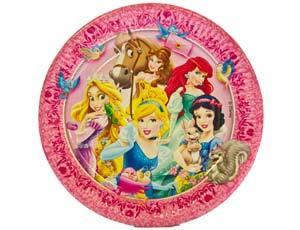 Тарелка Принцессы и животные 23см 8шт