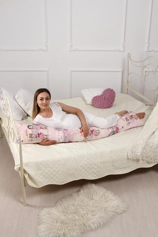 Подушка для беременных I170 (лебяжий пух) 10617 розовый