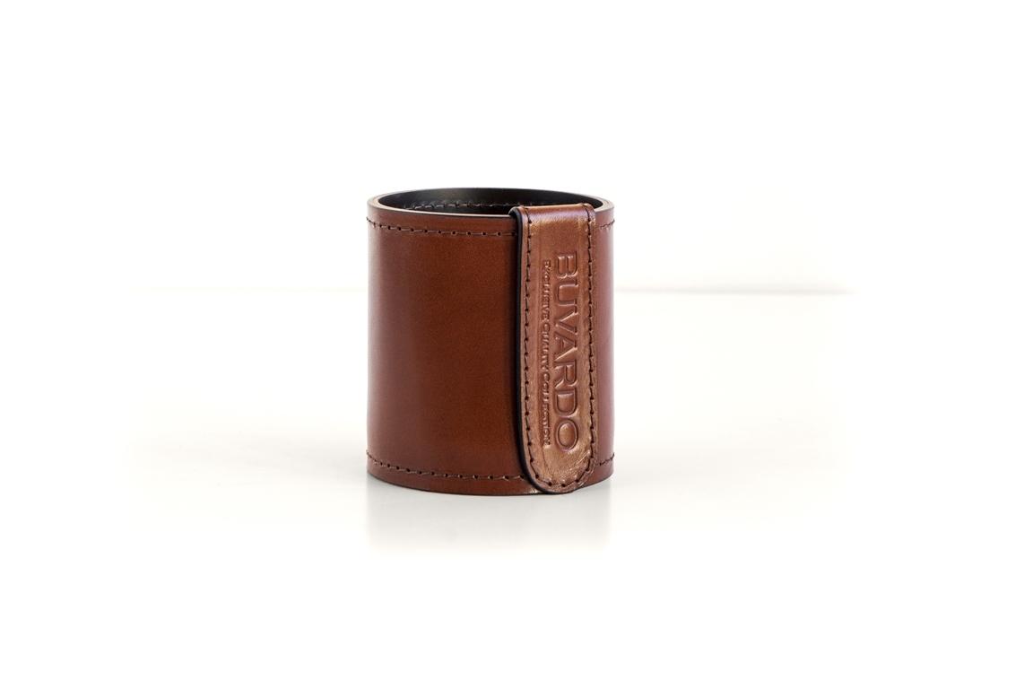 Стакан канцелярский Н10 BUVARDO PREMIUM из кожи Full Grain Toscana/Cuoietto шоколад