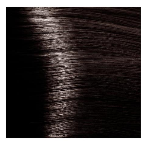 Крем краска для волос с гиалуроновой кислотой Kapous, 100 мл - HY 4.757 Коричневый пралине