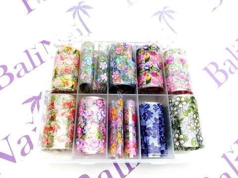 Набор фольги для декора ногтей (в ассортименте) 10шт