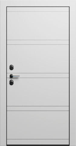 Входная дверь «Linea 2» в цвете, Эмаль белая