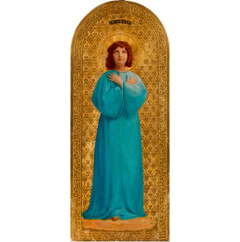 Икона святая мученица Вера Римская на дереве на левкасе мастерская Иконный Дом