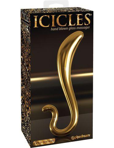 Стеклянный стимулятор для точки G Icicles Gold Edition - G02 (Pipedream)