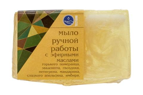 Melta Мыло ручной работы с эфирными маслами Имбирь и Апельсин 100гр