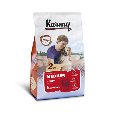 Karmy Medium Adult Телятина, 2кг.