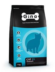 Корм для активных и выставочных кошек Gina Cat 33
