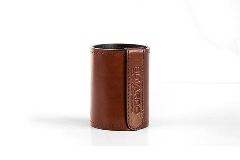 Стакан канцелярский Н12 PREMIUM из кожи Full Grain Toscana/Cuoietto шоколад